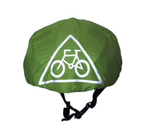 Zöld esővédő sisakhuzat