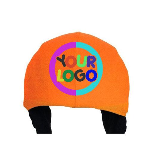 Egyed logózott sisakhuzat, többszínű logóval és színes sisakkal